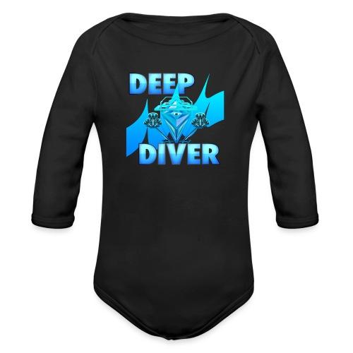 Deep Diver, Ocean Diamond. - Organic Longsleeve Baby Bodysuit