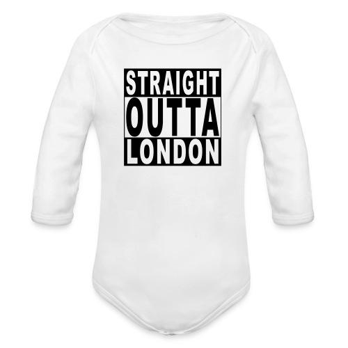 STRAIGHT OUTTA LONDON - Organic Longsleeve Baby Bodysuit
