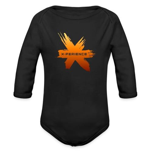 X-Perience Orange Logo - Baby Bio-Langarm-Body