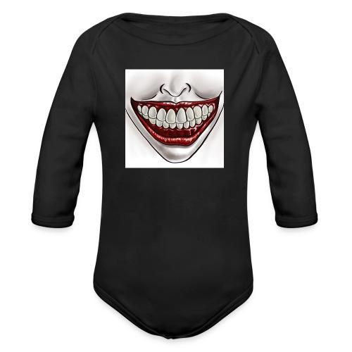 Smile Maske - Baby Bio-Langarm-Body