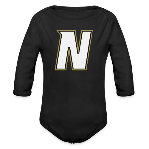 Nordic Steel WHITE N - Organic Longsleeve Baby Bodysuit