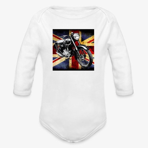 BSA motor cycle vintage by patjila 2020 4 - Organic Longsleeve Baby Bodysuit