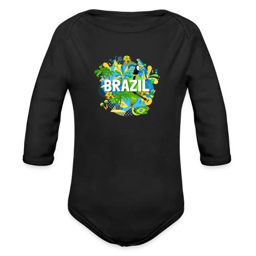 Encontro Brasil - Organic Longsleeve Baby Bodysuit