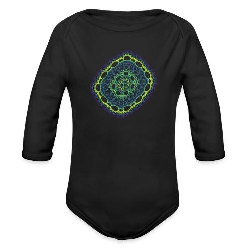 Smaragdgewebe gesponnen aus dem Chaos 5320viridis - Baby Bio-Langarm-Body