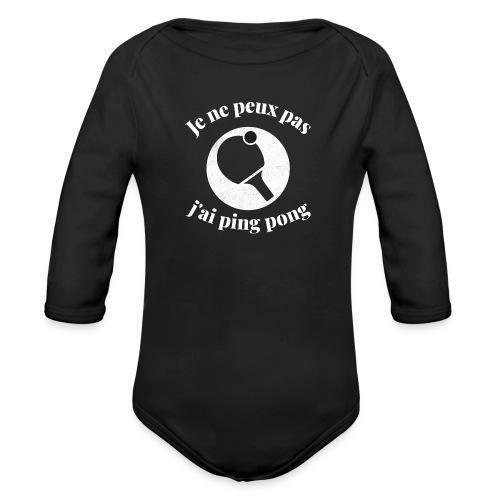 ping-pong - Body Bébé bio manches longues