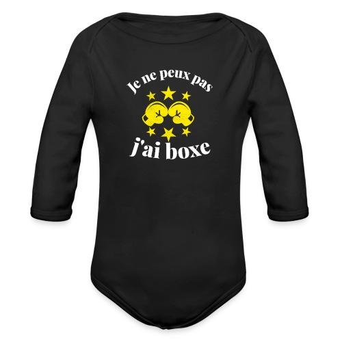 boxe - Body Bébé bio manches longues
