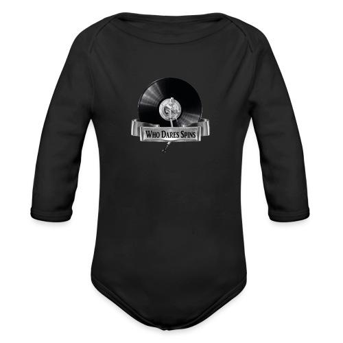 WHO DARES SPINS - Organic Longsleeve Baby Bodysuit