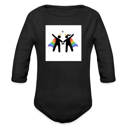 LGBT BI - Langærmet babybody, økologisk bomuld