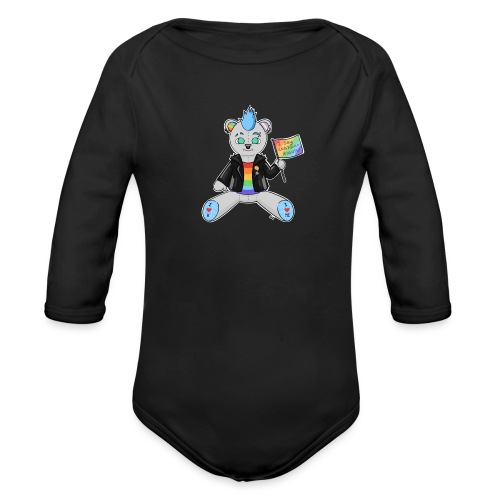 LGBT Bear Love - Langærmet babybody, økologisk bomuld