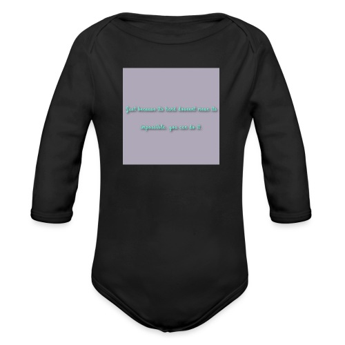 Tekst - Langærmet babybody, økologisk bomuld