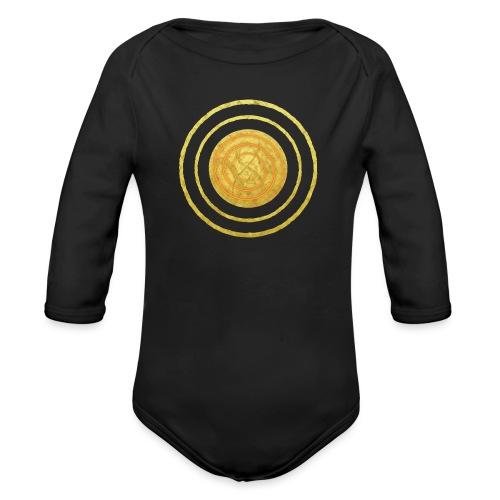 Glückssymbol Sonne - positive Schwingung - Spirale - Baby Bio-Langarm-Body