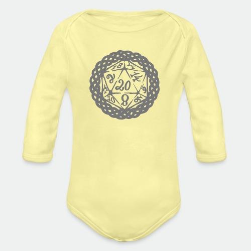 D20 Geschenk Glücksbringer Rollenspiel Würfel - Organic Longsleeve Baby Bodysuit