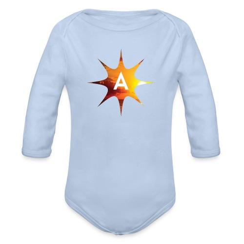 Sunshine Hoodie White - Ekologiczne body niemowlęce z długim rękawem