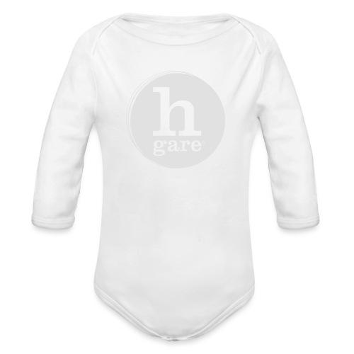 HGARE LOGO TONDO PIENO GIALLO - Body ecologico per neonato a manica lunga