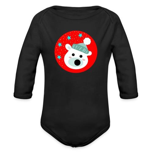 Winter bear - Organic Longsleeve Baby Bodysuit