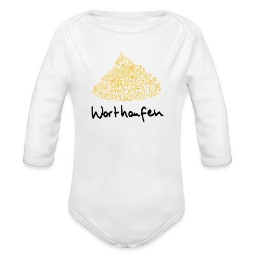 Worthaufen - Baby Bio-Langarm-Body