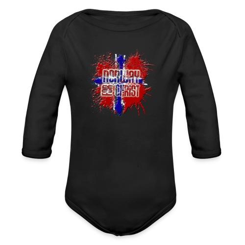 Norway for CHRIST - Organic Longsleeve Baby Bodysuit