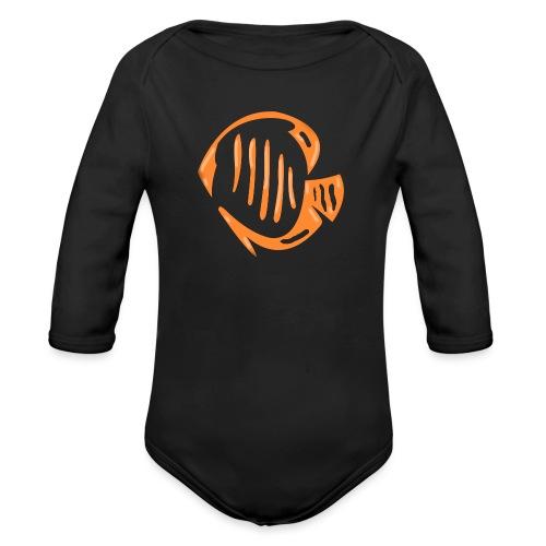 Aquarium Adventures Logo - Organic Longsleeve Baby Bodysuit