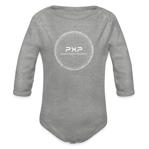 white logo transparent 2x - Organic Longsleeve Baby Bodysuit