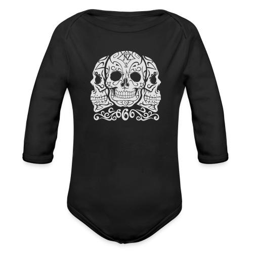 Skull Dia de los muertos - Body Bébé bio manches longues