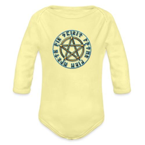 Runen Pentagramm Elemente Schutz Amulett Magie - Baby Bio-Langarm-Body