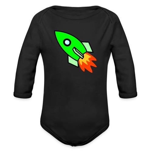 neon green - Organic Longsleeve Baby Bodysuit