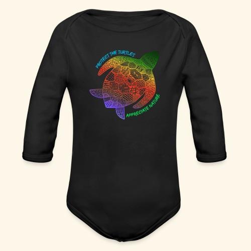 Schildkröte Protect the turtles Naturliebhaber - Baby Bio-Langarm-Body