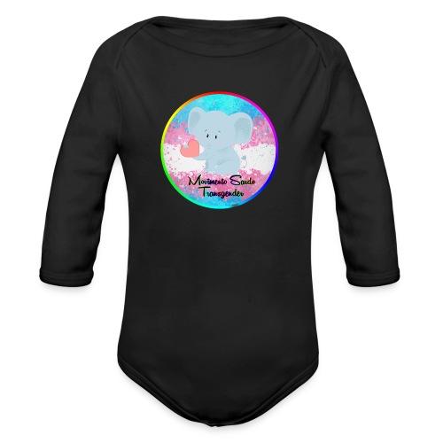 Logo Dell'Associazione Movimento Sardo Transgender - Body ecologico per neonato a manica lunga