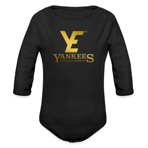 YE Logo Gold - Organic Longsleeve Baby Bodysuit