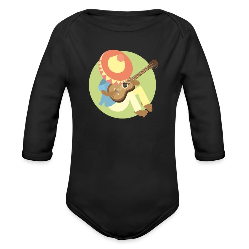 Gitarre spielen - Baby Bio-Langarm-Body