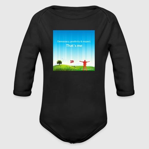 Rolling hills tshirt - Langærmet babybody, økologisk bomuld