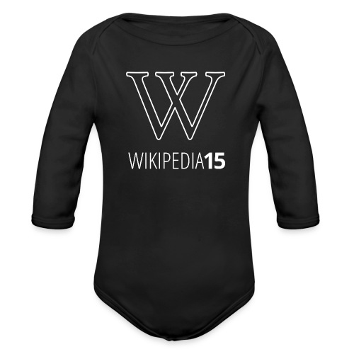 W, rak, svart - Ekologisk långärmad babybody