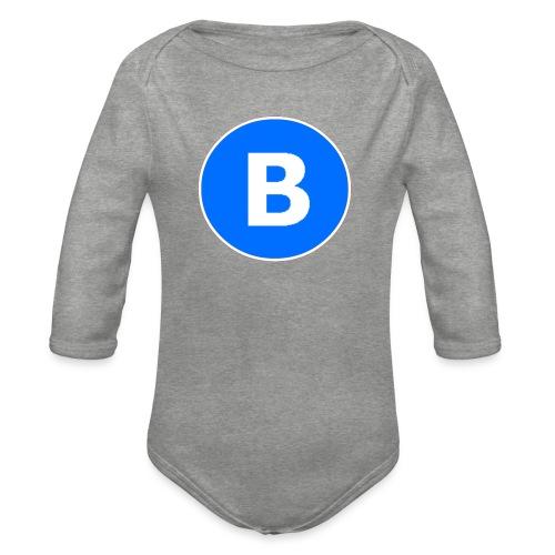 BluePrison - Langærmet babybody, økologisk bomuld