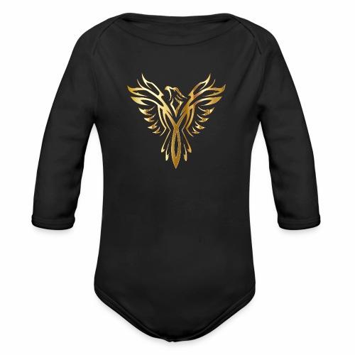 Złoty fenix - Ekologiczne body niemowlęce z długim rękawem