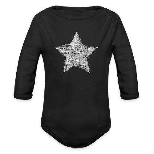 Estrella blanca - Body orgánico de manga larga para bebé