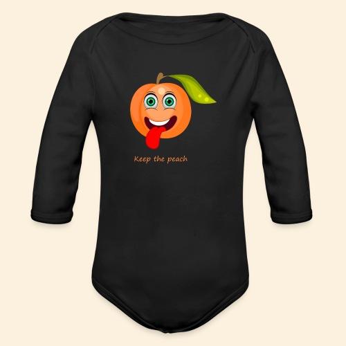 Whoua keep the peach - Body Bébé bio manches longues