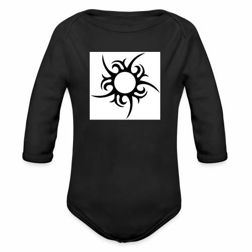 tribal sun - Organic Longsleeve Baby Bodysuit