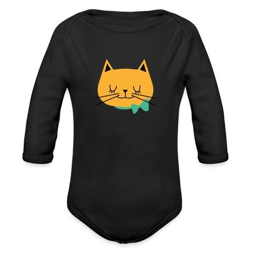 cat - Body Bébé bio manches longues