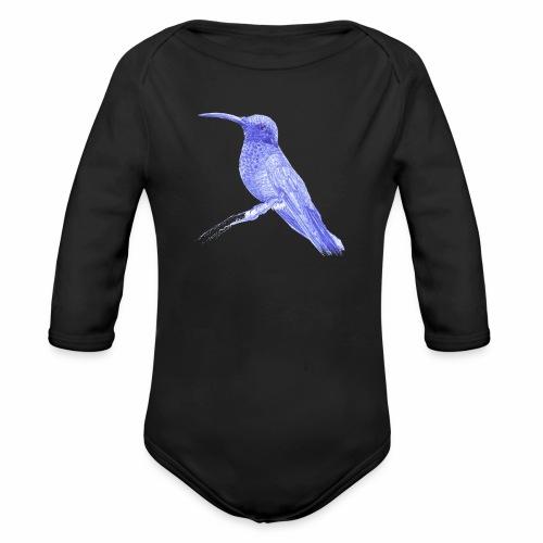 Colibri au stylo-bille - Body Bébé bio manches longues