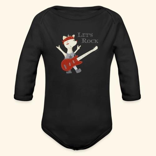 rock lupet - Organic Longsleeve Baby Bodysuit