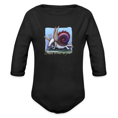 Unichiocciolo - Body ecologico per neonato a manica lunga