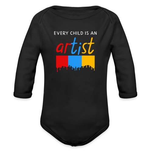 Every child is an artist - Baby bio-rompertje met lange mouwen