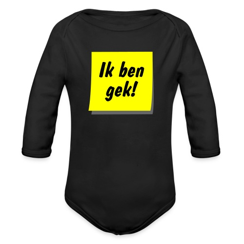 postit gek ill9 - Baby bio-rompertje met lange mouwen