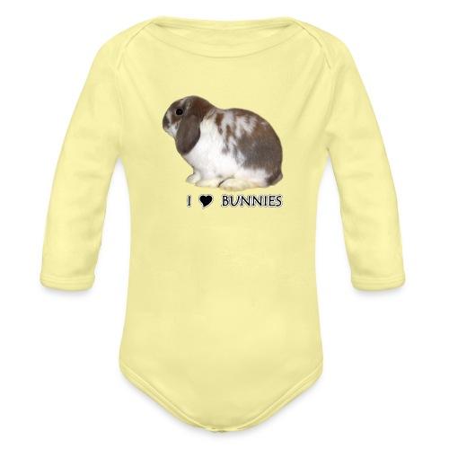 I Love Bunnies Luppis - Vauvan pitkähihainen luomu-body