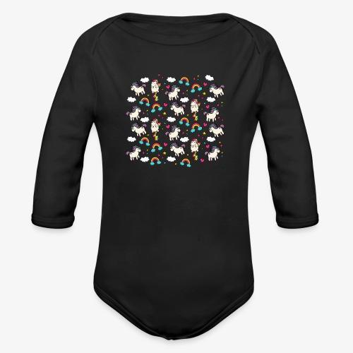 unicorns 2 - Organic Longsleeve Baby Bodysuit