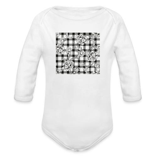 CHECK pattern throw pillow - Organic Longsleeve Baby Bodysuit