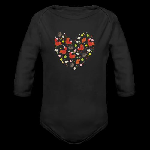 Metikössä - Vauvan pitkähihainen luomu-body