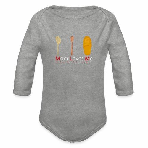 Mamma Loves Me - Body ecologico per neonato a manica lunga