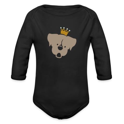 Prinz Poldi braun - Baby Bio-Langarm-Body