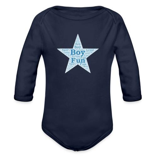 A star is born - Baby bio-rompertje met lange mouwen